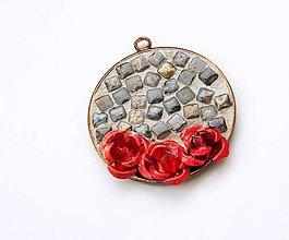 Iné šperky - Ružičkový prívesok - 7533868_
