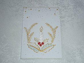 Papiernictvo - Pohľadnica ...sviečka... - 7532173_