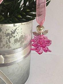 Dekorácie - Anjelik na stromček - 7534754_