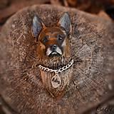 Nemecký ovčiak - magnet podľa fotografie psa