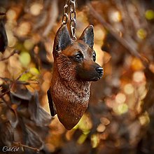 Kľúčenky - Nemecký ovčiak - kľúčenka podľa fotografie psa - 7532813_