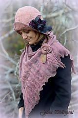 Čiapky - Staroružový hodvábny klobúk - 7533293_