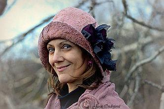Čiapky - Staroružový hodvábny klobúk - 7533292_