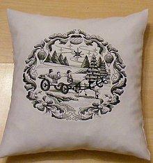 Úžitkový textil - vankúšiky vianočné - 7532971_