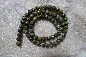 Minerály - Jaspis zelený africký 6mm - 7533854_