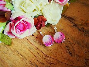 Náušnice - Náušničky s kvietkami v ružovom odtieni - 7532020_