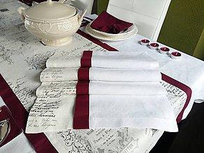 Úžitkový textil - Ľanová štóla Silent Night - 7534522_