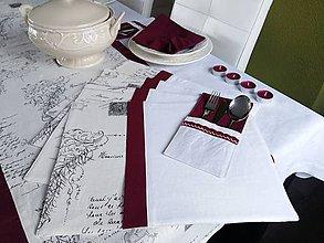 Úžitkový textil - Ľanové prestieranie Silent Night - 7534568_