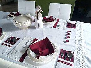 Úžitkový textil - Bavlnený obrúsok - sviatočný - 7534679_