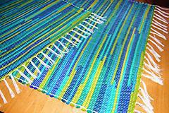 - Tkaný koberec modro-tyrkysovo-olivovo-zelený - 7535470_