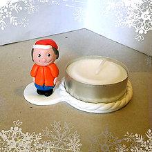 Svietidlá a sviečky - Svietniky na zákazku (chlapec) - 7534431_
