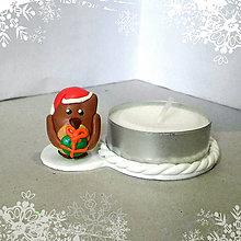 Svietidlá a sviečky - Svietniky na zákazku (sovička) - 7534930_