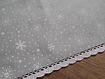 - obrus 70x70 cm vianočný  šedo-biely  - 7539352_