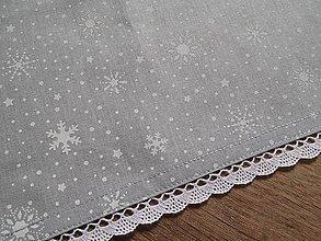 Úžitkový textil - obrus 70x70 cm vianočný  šedo-biely - 7539352_