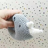 Hračky - Nosorožec hrkino (šedý) - 7536370_