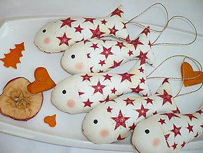 Dekorácie - Vianočné rybičky - 7536555_