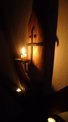 """Svietidlá a sviečky - Nástenný svietnik """"Templár"""" - 7540177_"""
