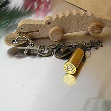 Iné - kľúčenka s nábojnicou a krokodílom - 7540946_
