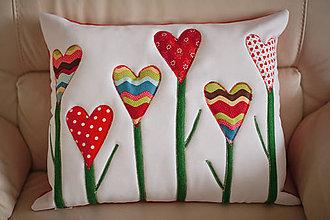 Úžitkový textil - Vankušik kvety - 7536144_