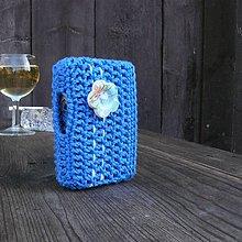 Taštičky - Tabatierka s bočným otváraním - modrá nebeská - 7540495_