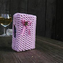 Taštičky - Tabatierka s bočným otváraním - ružová - 7540562_