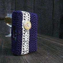 Taštičky - Tabatierka s bočným otváraním - fiala - 7540580_