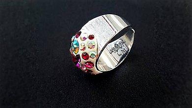 Prstene - masívny swarovski prsteň - 7538790_