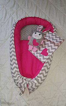 Textil - Hniezdo pre bábätko obojstranné chevron - 7537118_