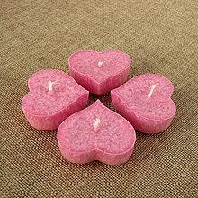Darčeky pre svadobčanov - Plávajúca sviečka - ružové srdiečko - 7539984_
