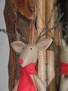 Dekorácie - Rudolf the red nosed reindeer I. - 7537625_