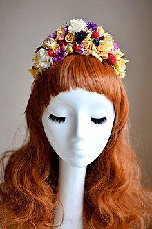 Ozdoby do vlasov - Žltá kvetinová čelenka - 7535815_