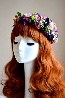 Ozdoby do vlasov - Kvetinový vlasový venček - 7539679_