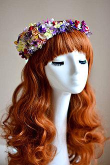 Ozdoby do vlasov - Kvetinový vlasový venček - 7539786_