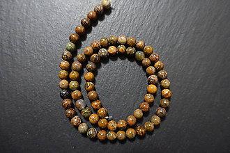 Minerály - Opál africký zelenohnedý 6mm - 7536358_
