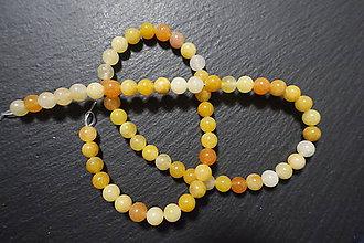 Minerály - Jadeit oranžovožltý 6mm - 7541929_