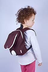 Detské tašky - Detský softshell batoh ZAJKO (hnedo-biely) - 7539329_