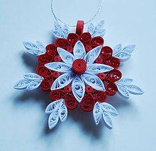 Dekorácie - Vianočná vločka 2 - 7540830_