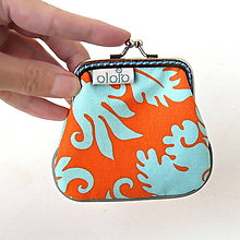 Peňaženky - Peňaženka mini Oranžovo-tyrkysová - 7538226_