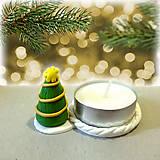 Svietidlá a sviečky - Svietnik vianočný stromček - 7538788_