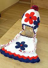 Detské čiapky - Supravka v namornickych farbach - 7539847_