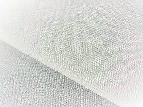 Textil - Ľanové plátno biele, š. 150 cm - 7542620_