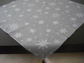 Úžitkový textil - Obrus - Strieborné vločky V - 7544889_
