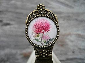 Papiernictvo - Záložka do knihy Vintage Flowers - 7544720_