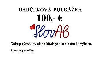 Darčekové poukážky - Darčeková poukážka 100,- € - 7543723_