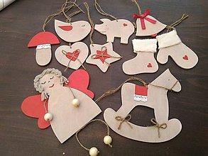 Dekorácie - Sada vianočných ozdôb - 7543304_