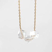 Náhrdelníky - Delikátný náhrdelník IceCubes - 7545844_