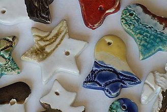 Dekorácie - keramické vianočné ozdoby, 1ks - 7544324_