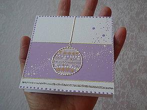 Papiernictvo - Pohľadnica - vianočná guľa - 7544565_