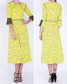 Šaty - Žlté úpletové šaty - 7545601_