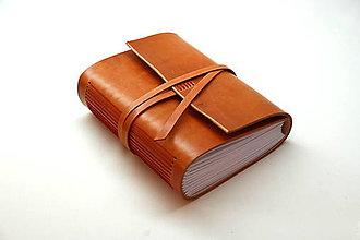 Papiernictvo - Zápisník z pravej kože PINIA - 7542423_